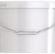 Ведро пластиковое овальное с крышкой JETO 125P